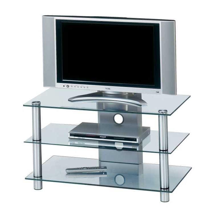 Tv rek cu hit aluminium helder glas in verschillende for Tv meubel glas