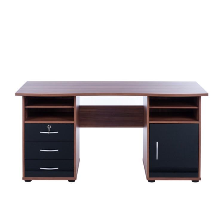 computertisch t by nussbaum schwarz home24. Black Bedroom Furniture Sets. Home Design Ideas