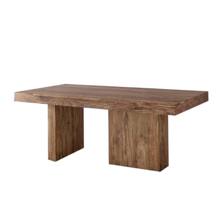 table teo bois de sheesham noyer naturel huil. Black Bedroom Furniture Sets. Home Design Ideas