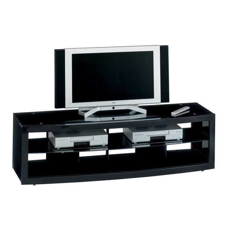 tv rack cuuba mr hochglanz schwarz home24. Black Bedroom Furniture Sets. Home Design Ideas