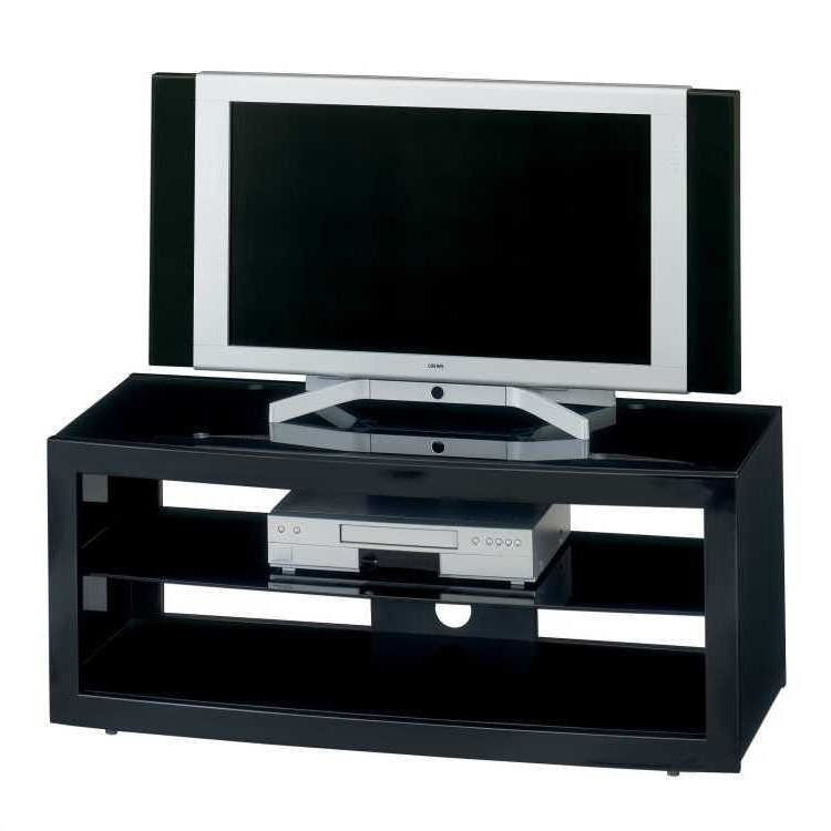tv rack schwarz hochglanz glas metall tv mediam bel tisch. Black Bedroom Furniture Sets. Home Design Ideas