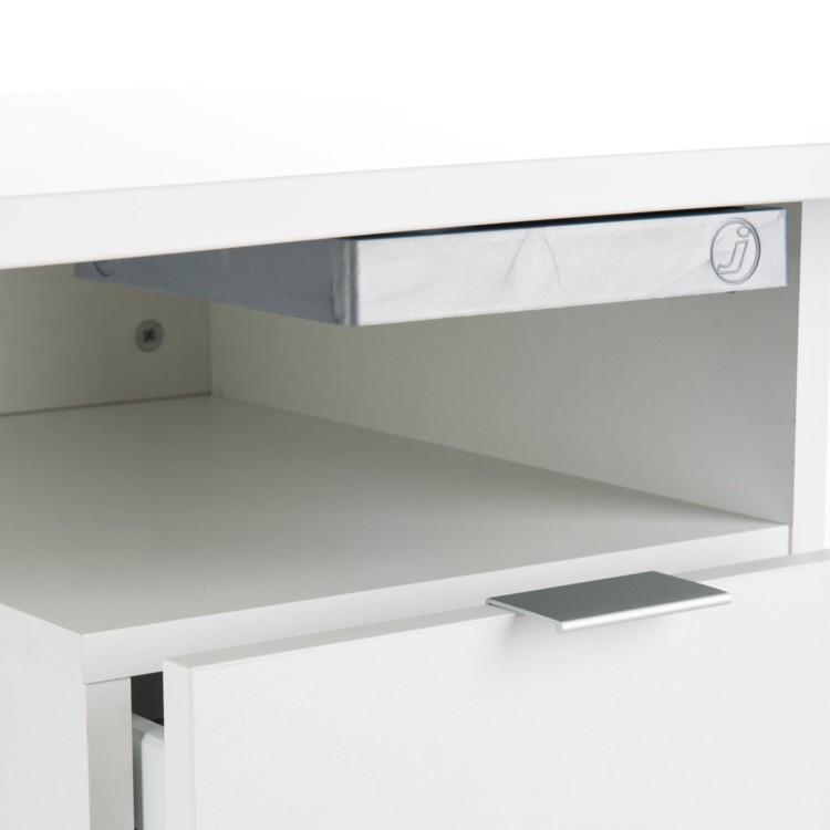 Bureau d 39 ordinateur tony avec tablette tiroir et porte - Tablette murale avec tiroir ...