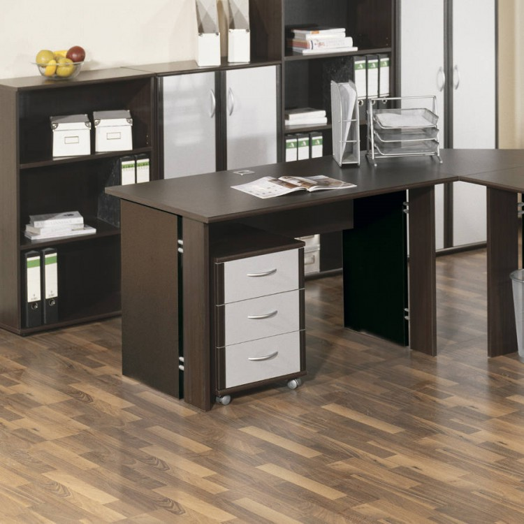 bureau savia 120cm weng look. Black Bedroom Furniture Sets. Home Design Ideas