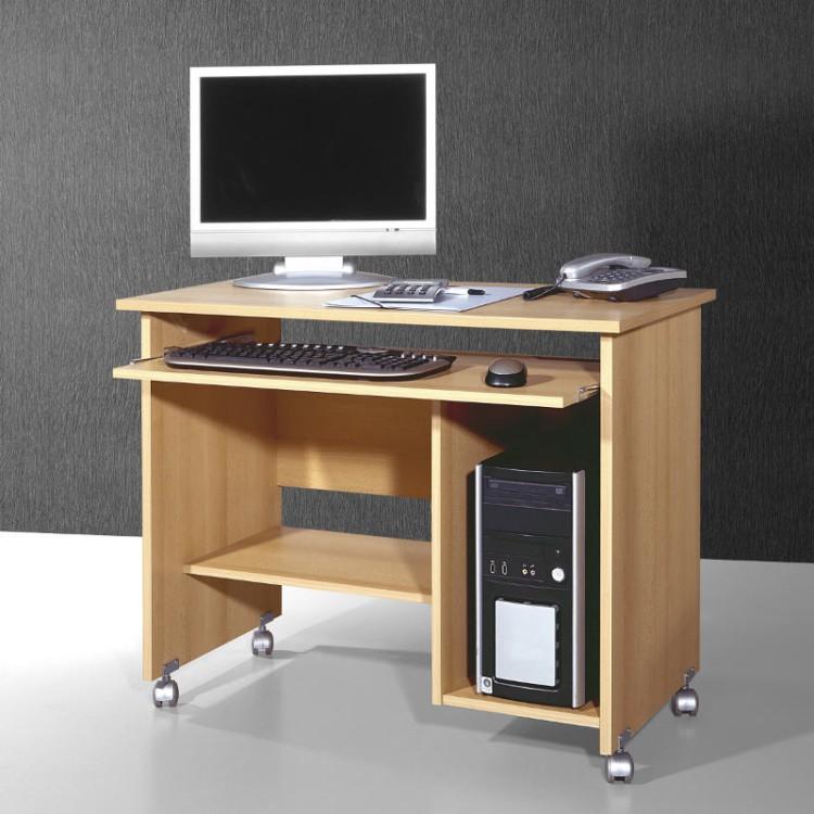table pour ordinateur tirana roulettes avec tablette pour clavier. Black Bedroom Furniture Sets. Home Design Ideas