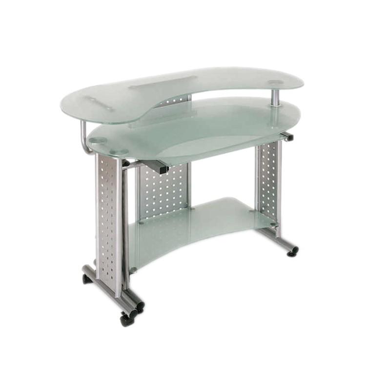 Schreibtisch vetro mit schwenkbarem seitenteil kaufen home24 for Home24 bewertung