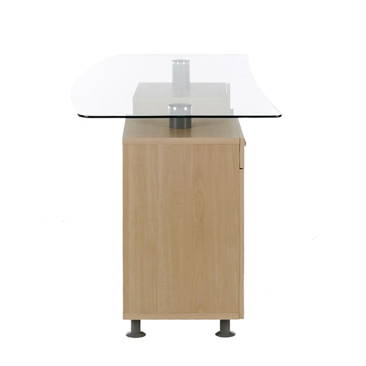 Schreibtisch freud glas ahorn dekor home24 for Schreibtisch ahorn dekor
