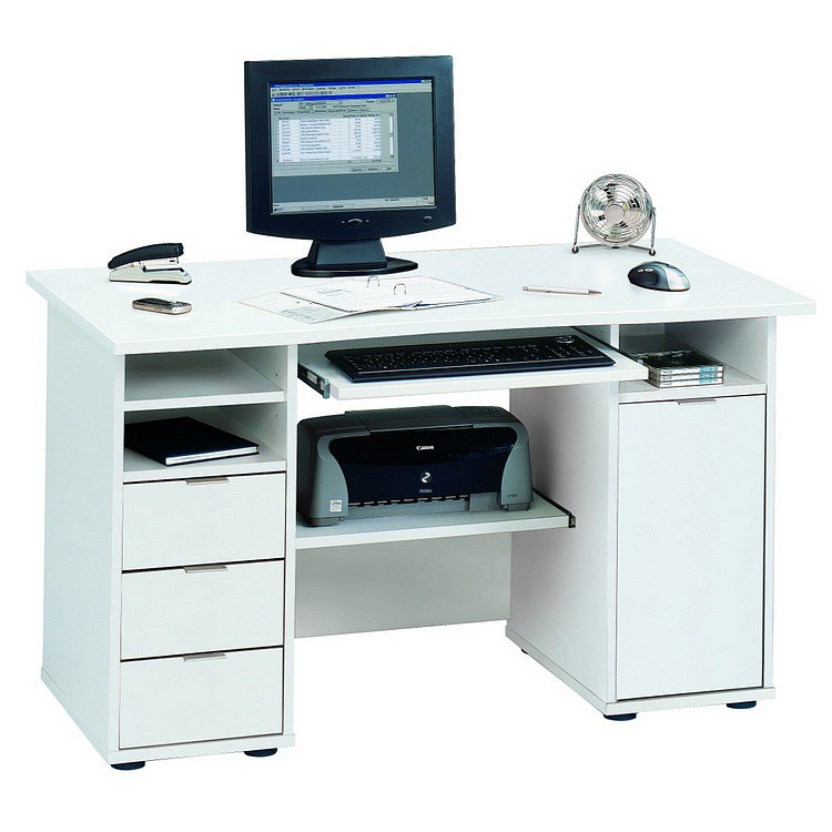 computertafel csl 220 wit. Black Bedroom Furniture Sets. Home Design Ideas