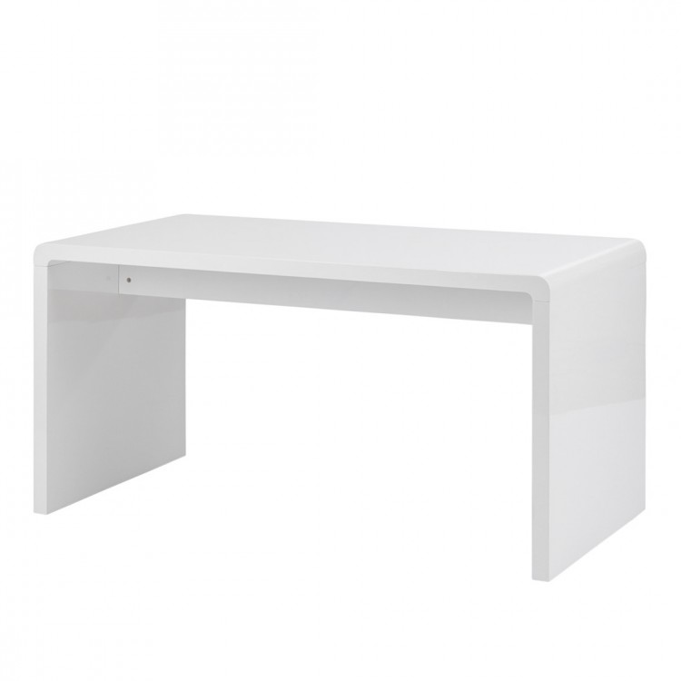 Bureau white club largeur 150 x 70 cm for Bureau 70 cm largeur
