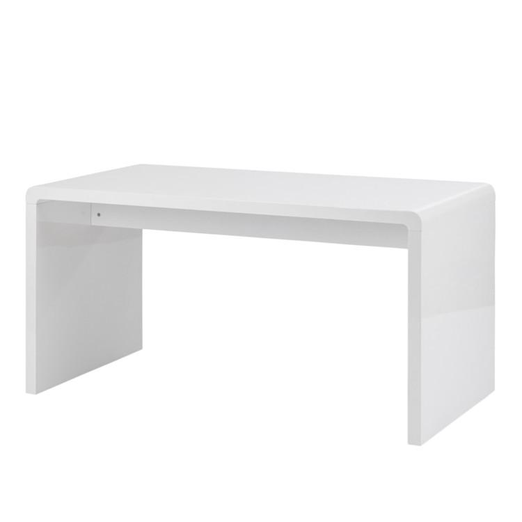 Bureau white club hoogglans wit for Schreibtisch 70 cm breit