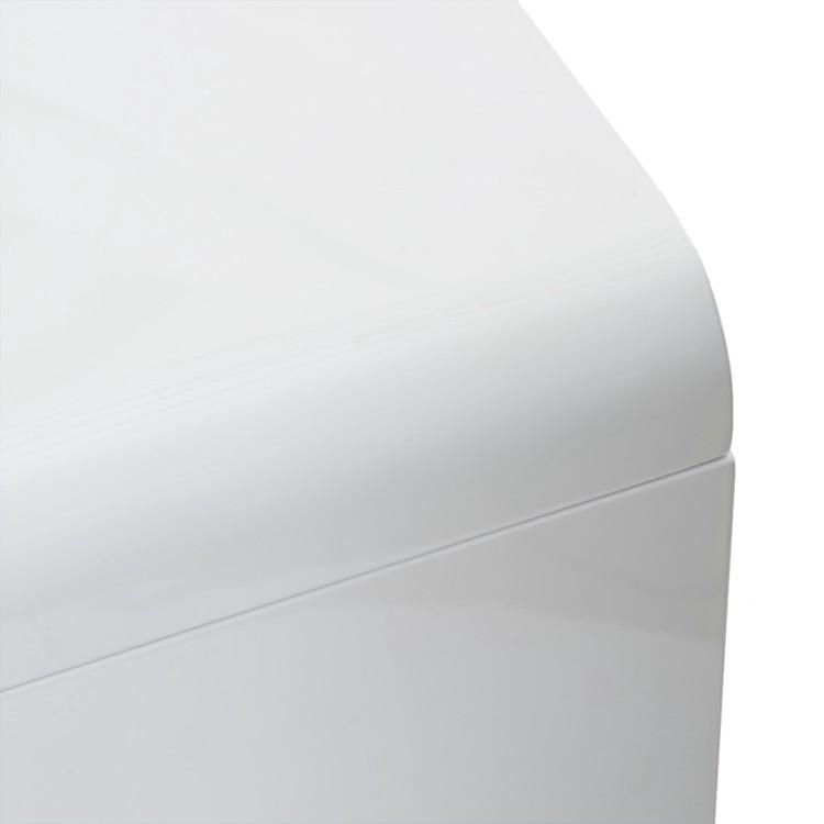 bureau white club 180cmx85cm hoogglans wit look. Black Bedroom Furniture Sets. Home Design Ideas