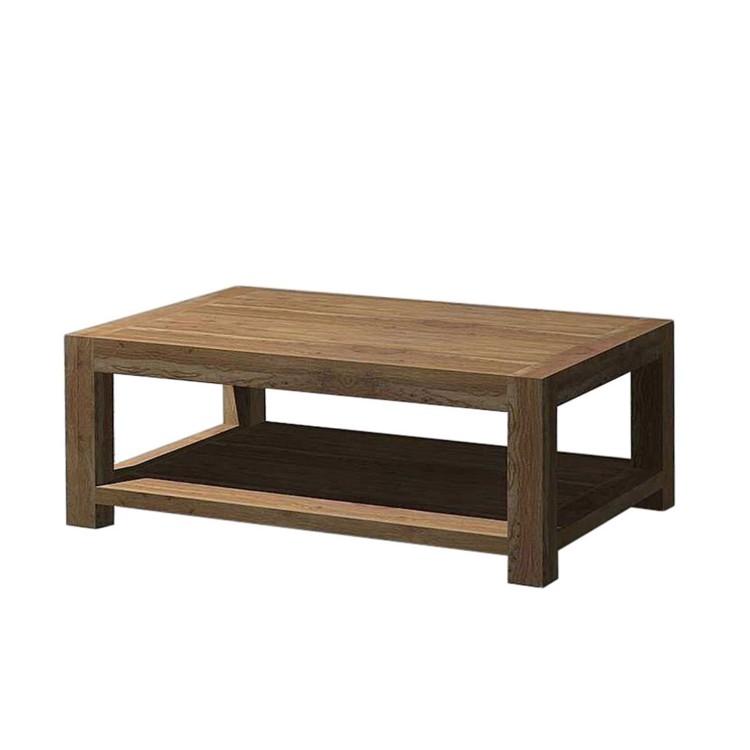 Table basse yoga avec tablette inf rieure palissandre et noyer - Table basse tablette ...
