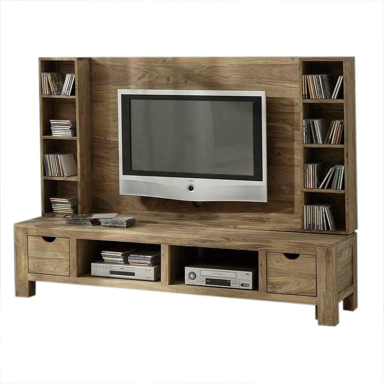 tv wand palisander massivholz sheesham wohnwand tv unterschrank schrankwand neu ebay. Black Bedroom Furniture Sets. Home Design Ideas