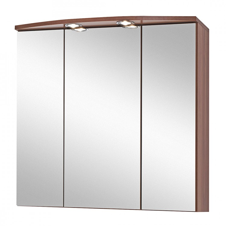 armoire miroir 3d marino imitation noyer. Black Bedroom Furniture Sets. Home Design Ideas