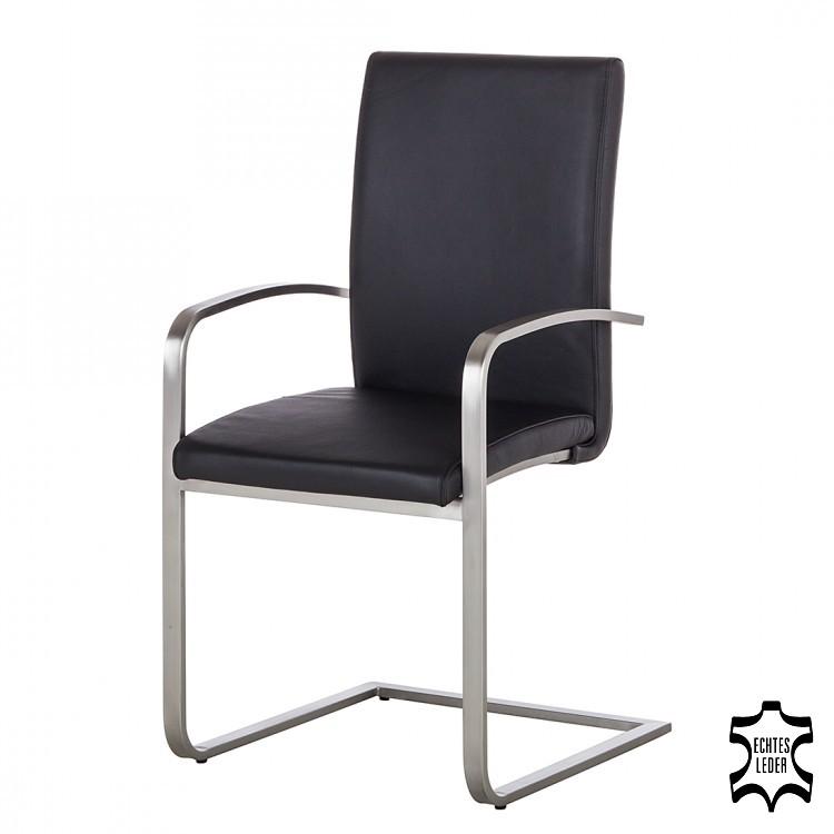 chaise luge accoudoirs augusta cuir noir bon prix. Black Bedroom Furniture Sets. Home Design Ideas
