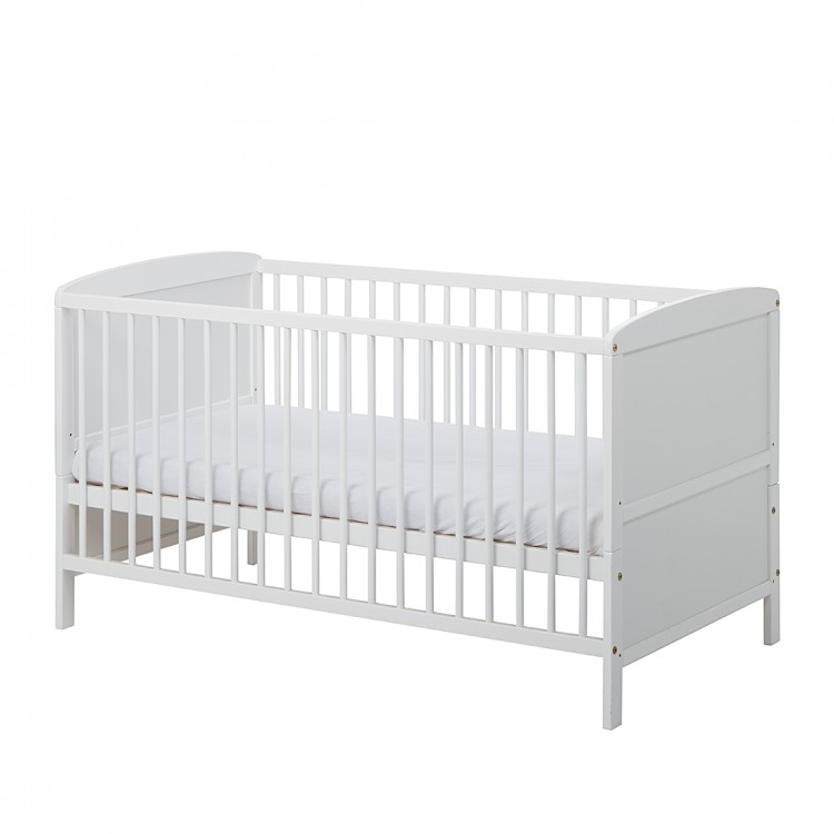 schardt babybett 70x140cm kiefer massivholz wei gitterbett junior baby bett neu ebay. Black Bedroom Furniture Sets. Home Design Ideas