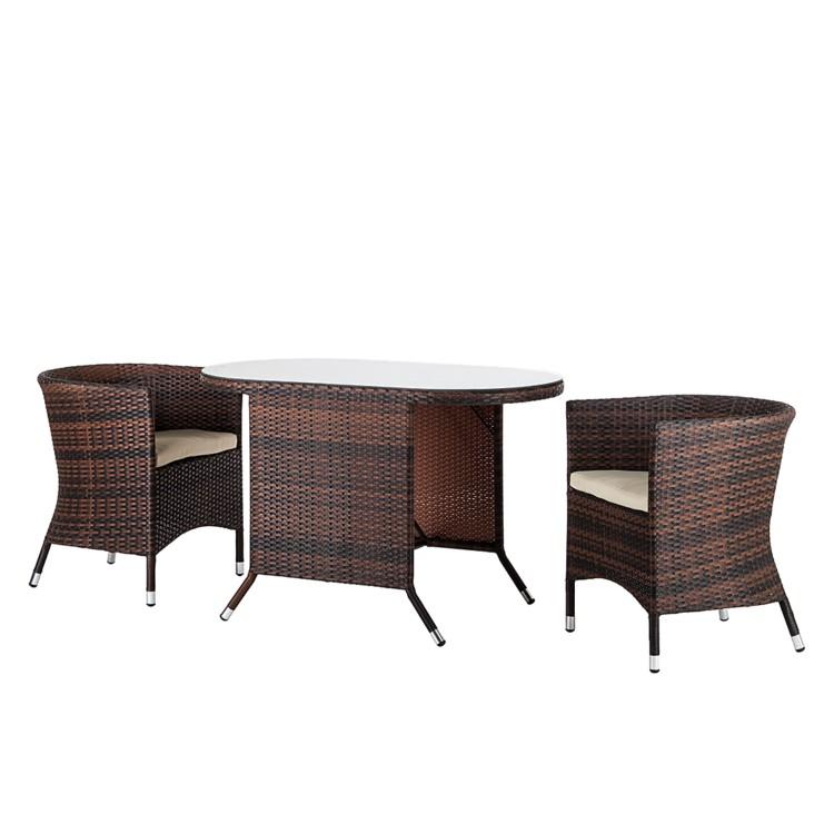 garten sitzgruppe balkon 3 teilig tisch sessel polyrattan st hle garten neu ebay. Black Bedroom Furniture Sets. Home Design Ideas