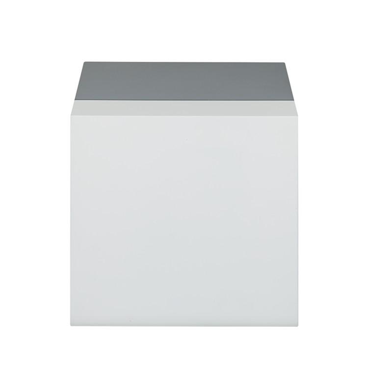 Couchtisch kubus wei hochglanz 60cm quadratisch pictures for Beistelltisch grau hochglanz