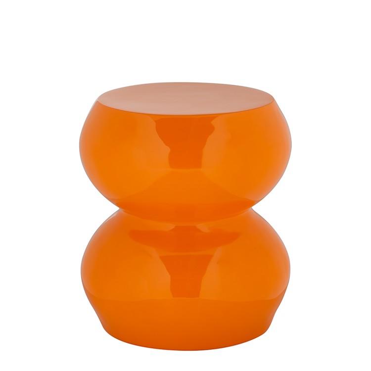 Beistelltisch orange hochglanz nachttisch wohnzimmer couch for Beistelltisch orange