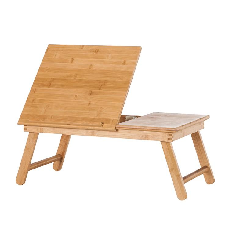 tablette de lit bertrange m abattant pour la lecture bambou. Black Bedroom Furniture Sets. Home Design Ideas