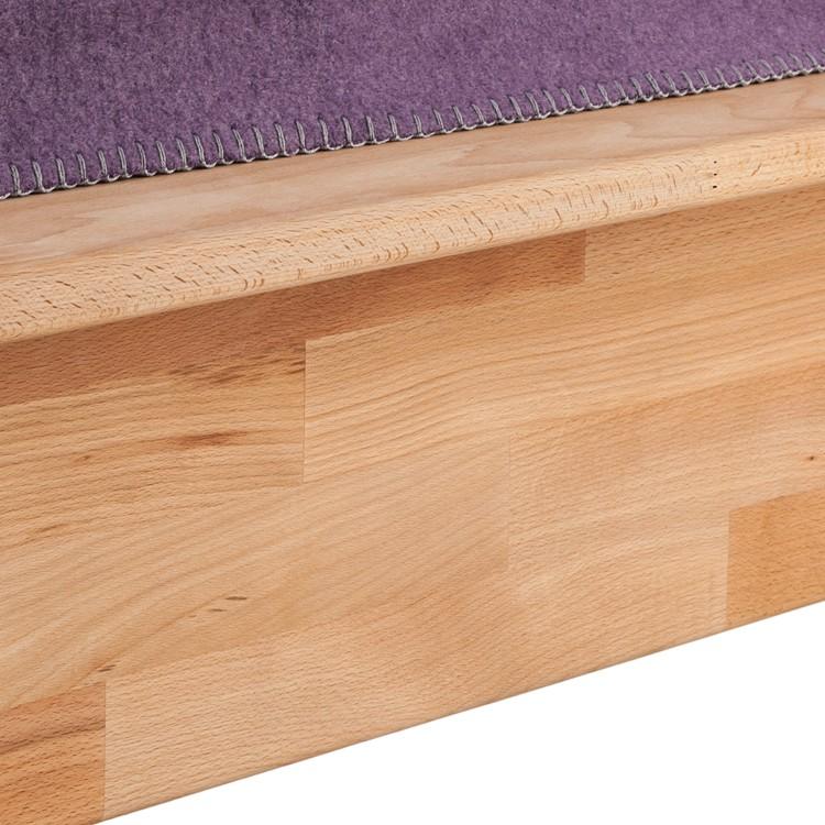 massivholzbett leewood kernbuche massiv home24. Black Bedroom Furniture Sets. Home Design Ideas