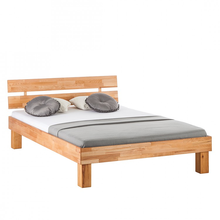 doppelbett buche massivholz 140x200 holz bett ehebett bettgestell bettrahmen neu ebay. Black Bedroom Furniture Sets. Home Design Ideas