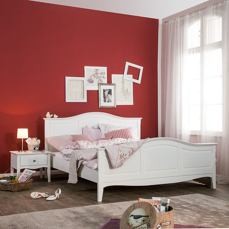 bett giselle im landhausstil in wei online kaufen home24. Black Bedroom Furniture Sets. Home Design Ideas