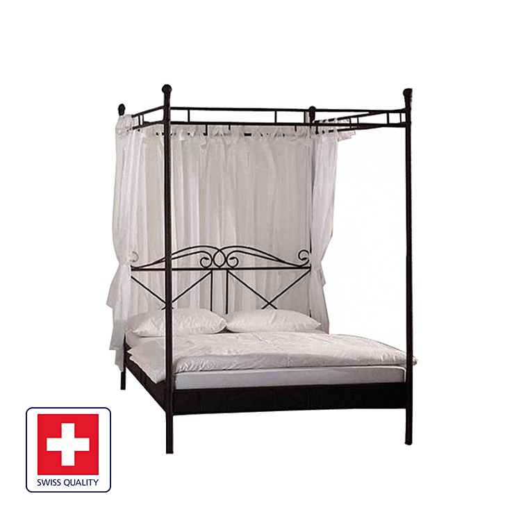 himmelbett venedig schwarz home24. Black Bedroom Furniture Sets. Home Design Ideas
