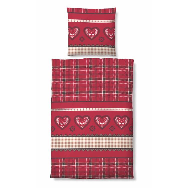 bettw sche winter soft seersucker herzen verschiedene gr en rot home24. Black Bedroom Furniture Sets. Home Design Ideas