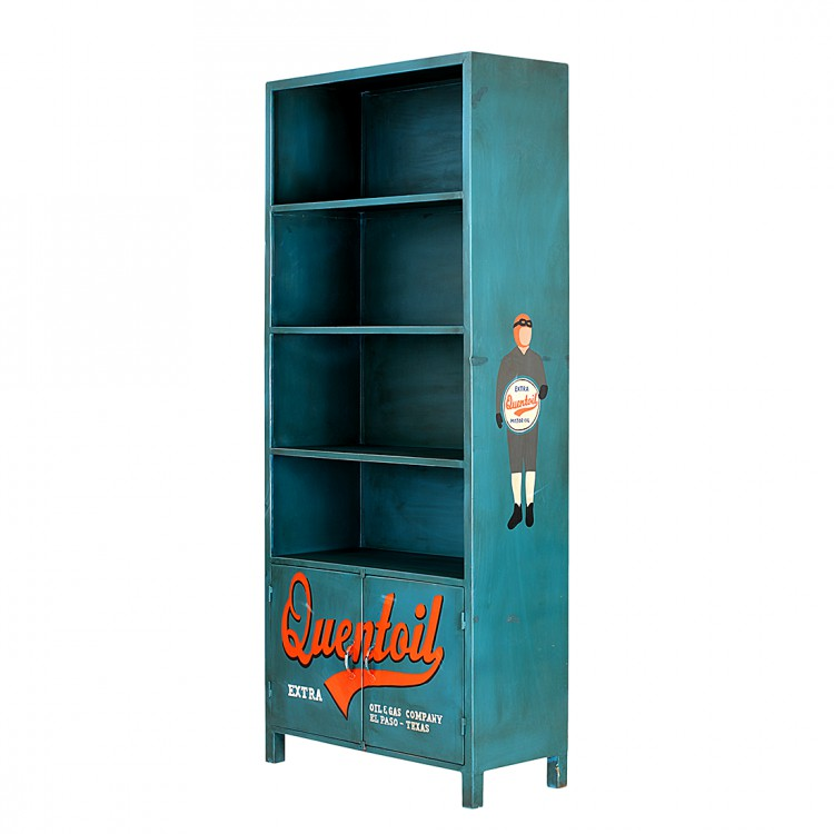 furnlab quenta b cherregal metall blau home24