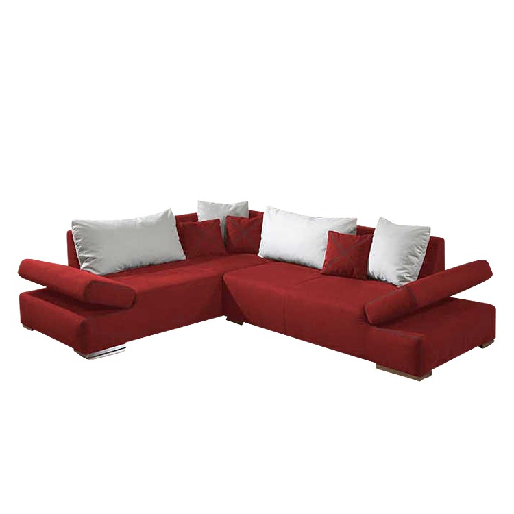 ecksofa ceomo microfaser rot home24. Black Bedroom Furniture Sets. Home Design Ideas