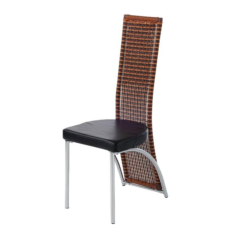 Stuhl classy chain 2er set lederlook schwarz kaufen for Stuhl schwarz esszimmer