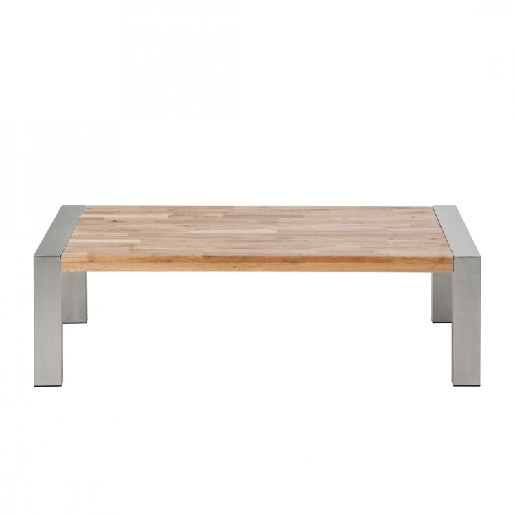 table basse noah ch ne massif acier inoxydable bross. Black Bedroom Furniture Sets. Home Design Ideas