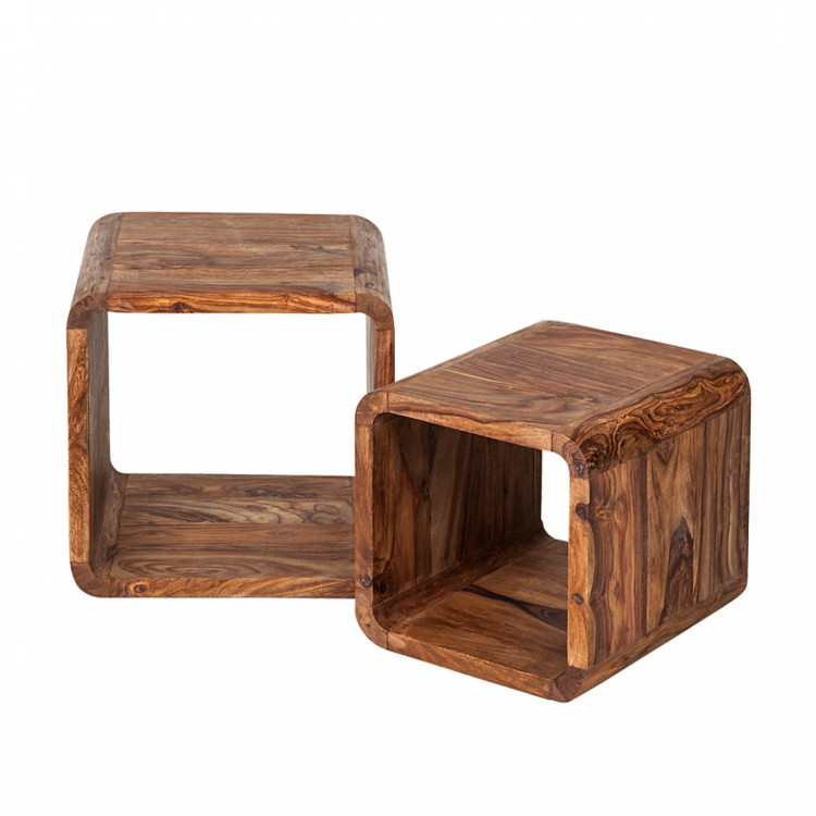 Cubes authentico bois de sheesham massif - Bois sheesham massif ...