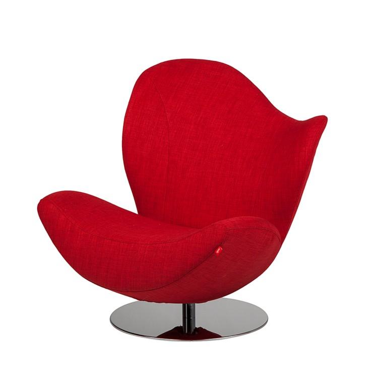 drehsessel wave stoff rot home24. Black Bedroom Furniture Sets. Home Design Ideas