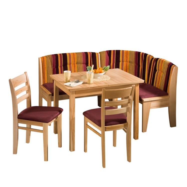 eckbankgruppe elviro 4 teilig kernbuche teilmassiv home24. Black Bedroom Furniture Sets. Home Design Ideas