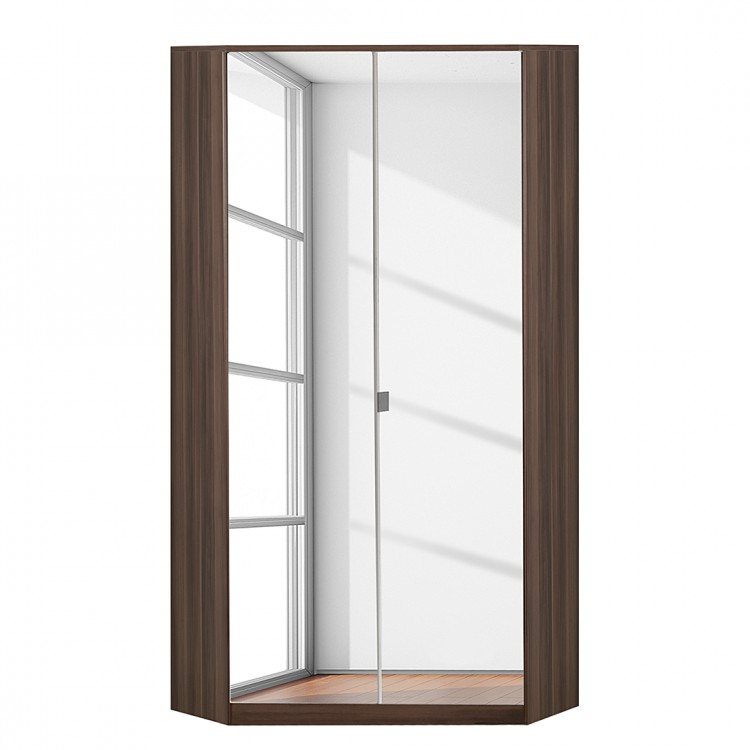 Armoire d 39 angle claudine avec miroir noyer fran ais for Miroir d angle
