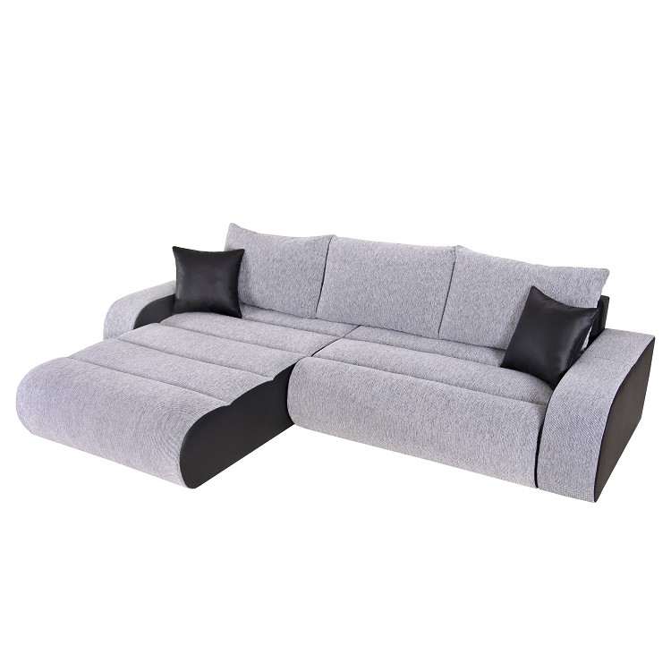 ecksofa rider mit schlaffunktion schwarz grau kaufen home24. Black Bedroom Furniture Sets. Home Design Ideas