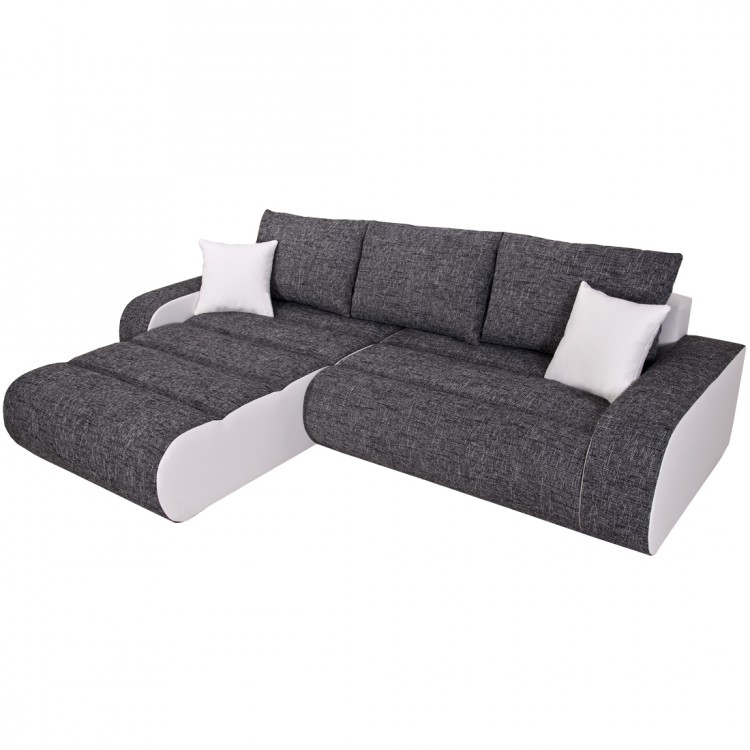 ecksofa rider mit schlaffunktion wei kaufen home24. Black Bedroom Furniture Sets. Home Design Ideas