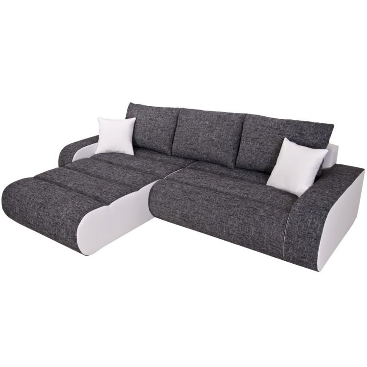 ecksofa rider mit schlaffunktion wei kaufen home24. Black Bedroom Furniture Sets. Home Design Ideas