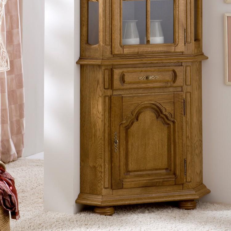 eckvitrine rustika eiche teilmassiv home24. Black Bedroom Furniture Sets. Home Design Ideas