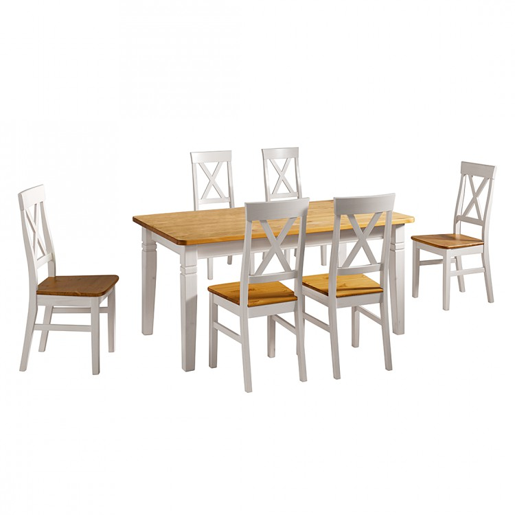 Esstisch bergen ii kiefer massiv home24 for Table bergen