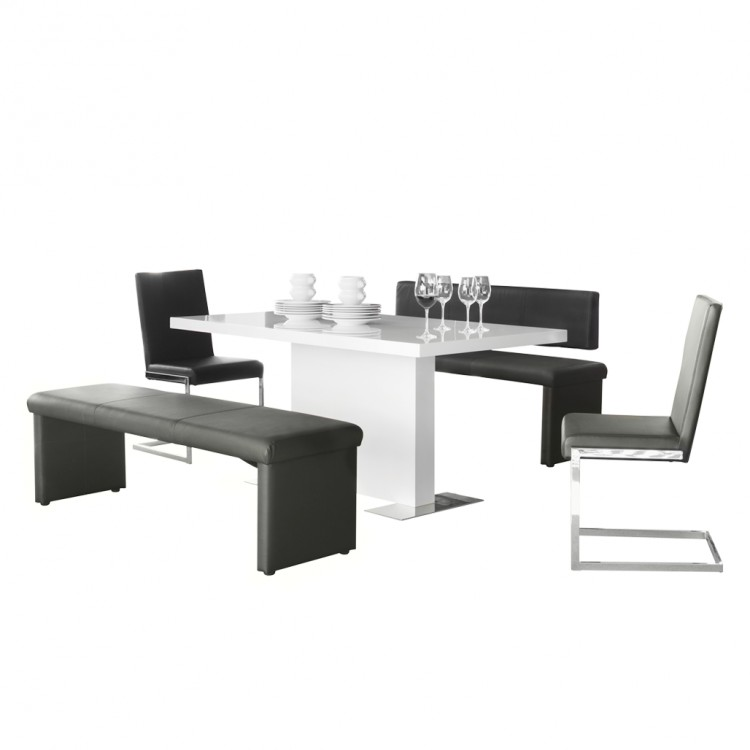 esszimmer m bel set turin 5 teilig schwarz kaufen home24. Black Bedroom Furniture Sets. Home Design Ideas
