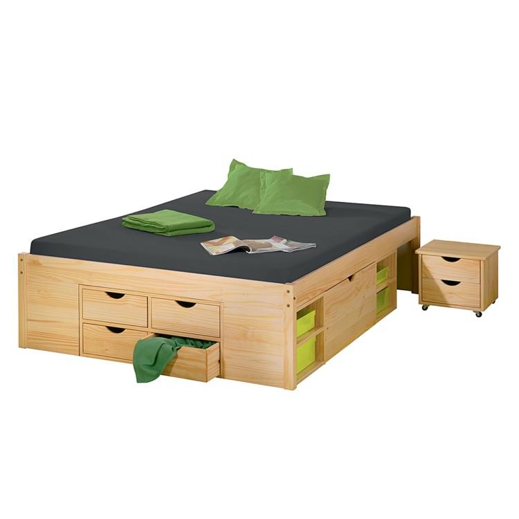 details zu bett funktionsbett 140x200 wei pictures to pin on pinterest. Black Bedroom Furniture Sets. Home Design Ideas