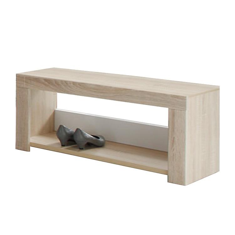 garderobenbank aalborg eiche dekor hochglanz wei home24. Black Bedroom Furniture Sets. Home Design Ideas