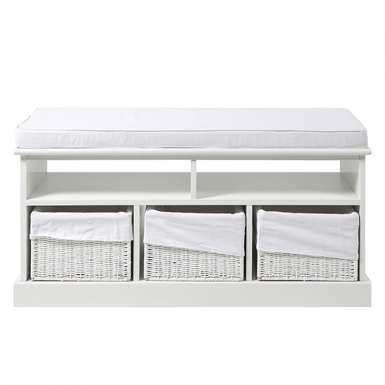 garderobenbank alavia massivholz wei home24. Black Bedroom Furniture Sets. Home Design Ideas