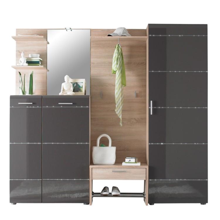 garderobenm bel set marine 6 teilig anthrazit. Black Bedroom Furniture Sets. Home Design Ideas