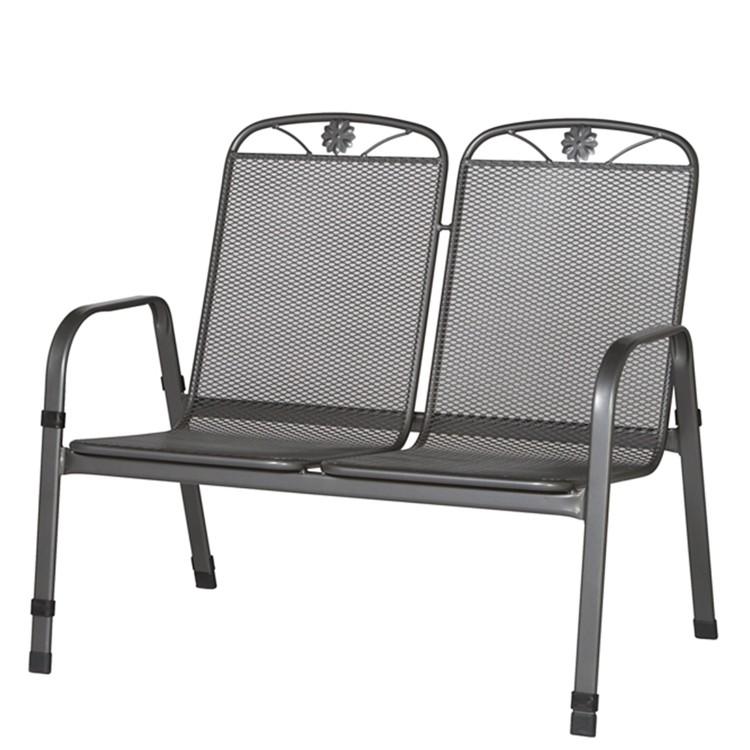 gartenbank saseo 2 sitzer streckmetall eisengrau home24. Black Bedroom Furniture Sets. Home Design Ideas