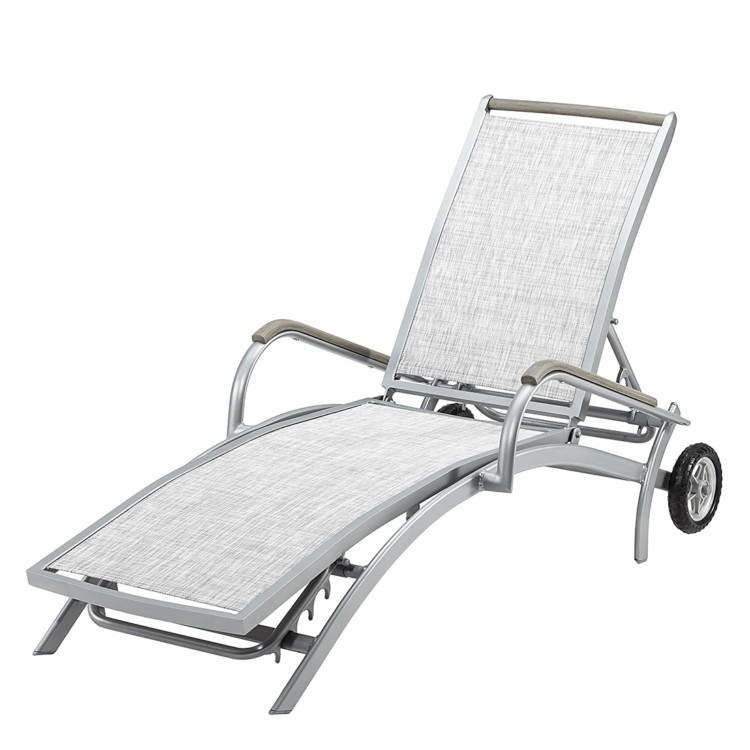 gartenliege aluminium silber sonnenstuhl sonnenliege liege. Black Bedroom Furniture Sets. Home Design Ideas