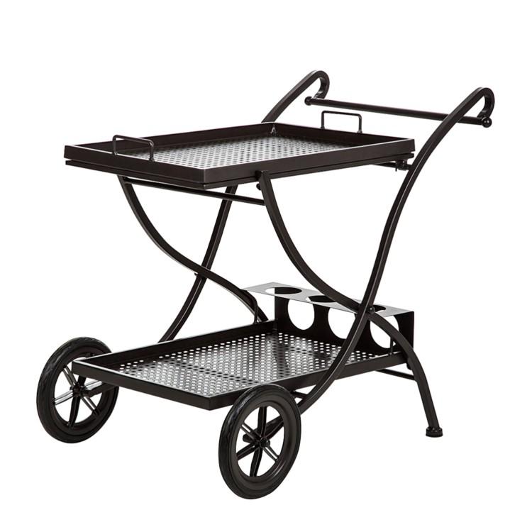 chariot servir pour jardin fer forg. Black Bedroom Furniture Sets. Home Design Ideas