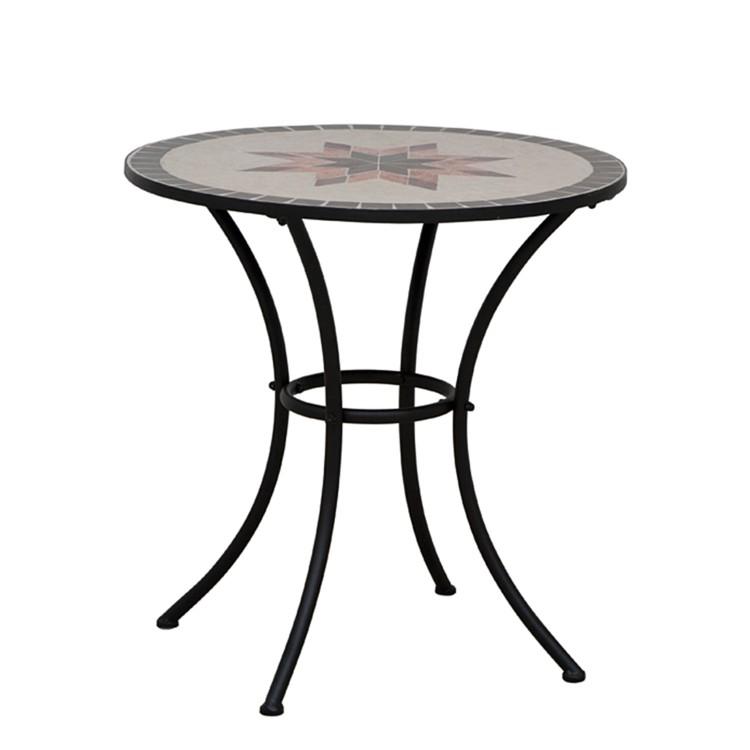 gartentisch stella eisen keramik home24. Black Bedroom Furniture Sets. Home Design Ideas